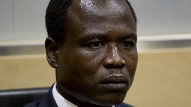 Dominic Ongwen waits for the start of court procedures as he made his first appearance at the International Criminal Court in The Hague in January 2015 (AP)