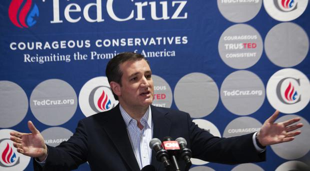 Ted Cruz has accused his rival Donald Trump of spreading rumours about his personal life (AP)