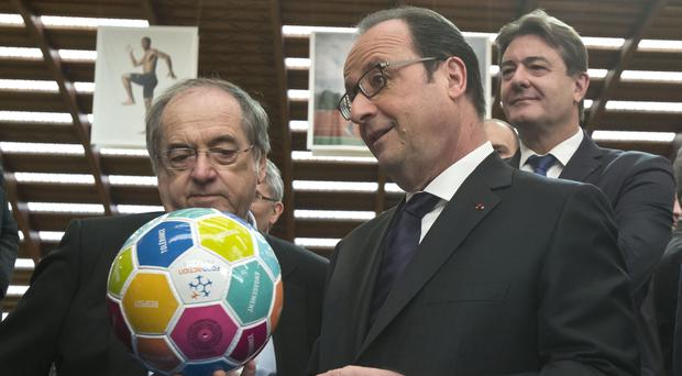French President Francois Hollande during an event to promote Euro 2016 (AP)