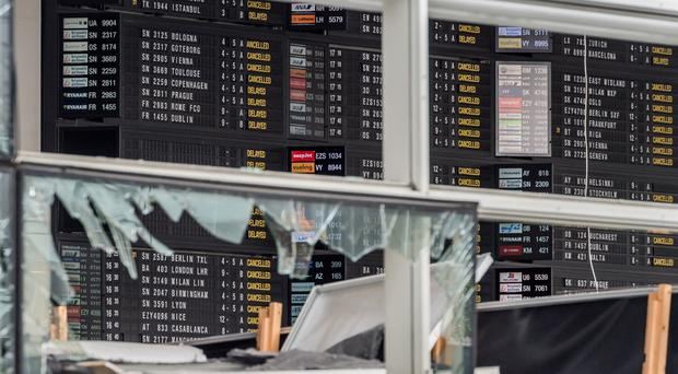 Brussels Airport should be back at about 20% of capacity from Monday and able to process 800 passengers an hour (AP)