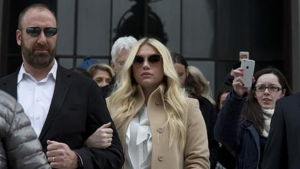 Kesha leaves the Supreme Court in New York (AP)