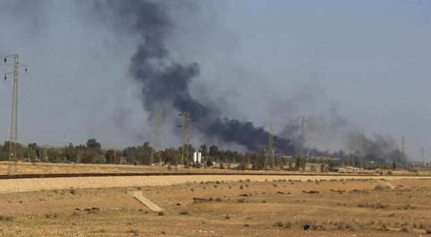 Activists said IS militants have seized Sheikh Reeh and al-Bal in Syria (AP)