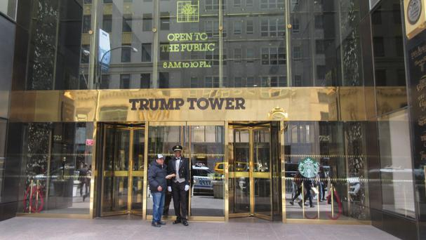 The entrance to Trump Tower in New York
