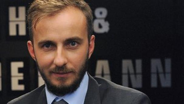 Jan Boehmermann performed the controversial poem about Turkeys president (AP)