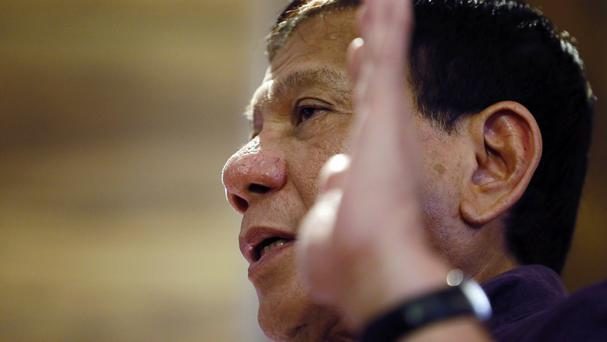 Davao City mayor Rodrigo Duterte has been criticised for his comments (AP)