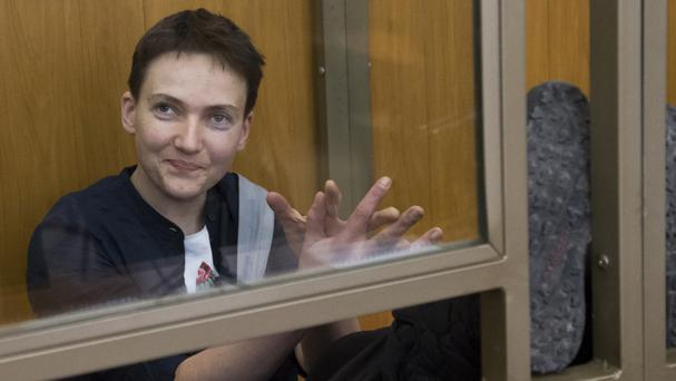 Ukrainian pilot Nadezhda Savchenko was sentenced to 22 years in prison in Russia last month (AP)