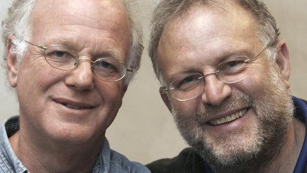 Ben Cohen and Jerry Greenfield were arrested at the US Capitol (AP)