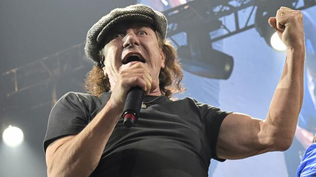 Brian Johnson says he intends to continue to record in studios (Rob Grabowski/Invision/AP)