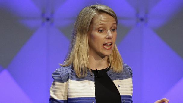 It is the largest decline in Yahoo's quarterly net revenue since the company hired CEO Marissa Mayer, pictured, nearly four years ago (AP)