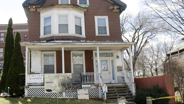The house where African-American leader Malcolm X spent part of his childhood in Boston (AP)