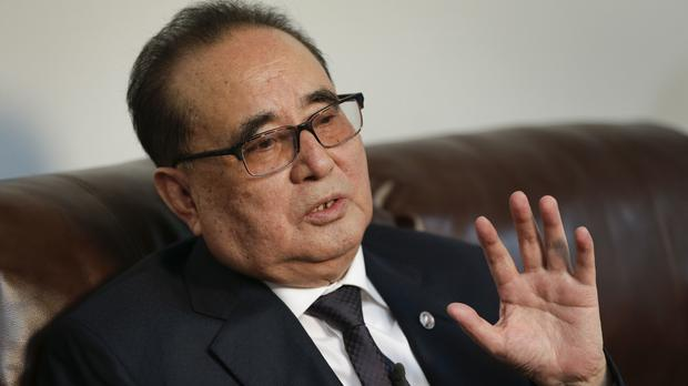 North Korea's foreign minister Ri Su Yong gives a rare interview to a Western news organisation (AP)