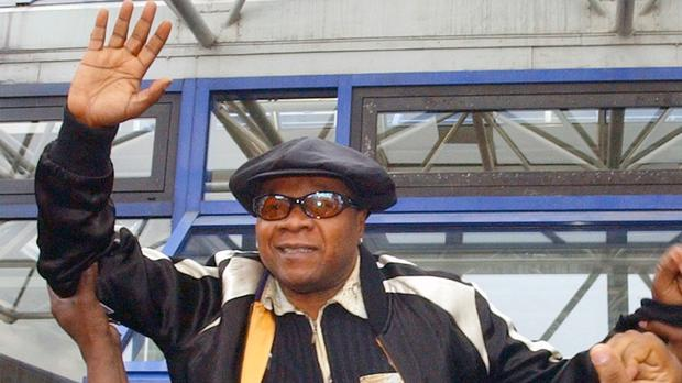Papa Wemba, known as the king of Congolese rumba, died aged 66 (AP/Remy de la Mauviniere)