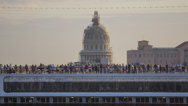 Passengers have set sail on the historic cruise (AP)