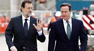 Spanish premier Mariano Rajoy, left, pictured in London with Prime Minister David Cameron, has been in charge on a caretaker basis