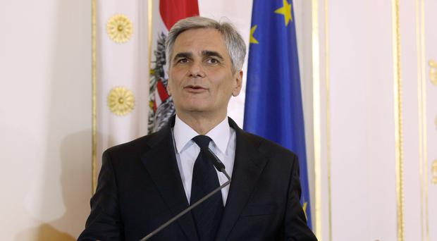 Austrian Chancellor Werner Faymann has resigned, according to reports (AP)
