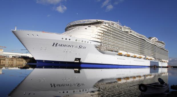 The Harmony Of The Seas pictured at Saint-Nazaire, France