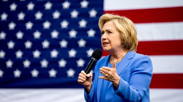 Democratic presidential candidate Hillary Clinton speaks during a campaign stop in Fort Mitchell, Kentucky (AP)