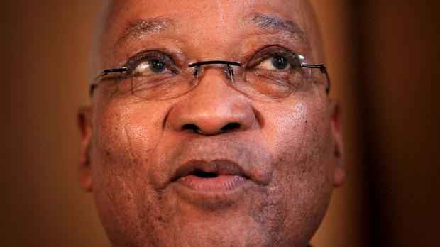 The opposition politicians were trying to disrupt a speech being made by South African President Jacob Zuma