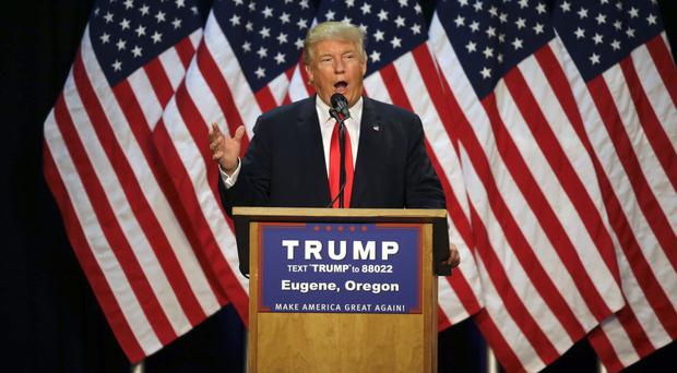Donald Trump plans to target traditionally Democrat states in his bid for the White House (AP)