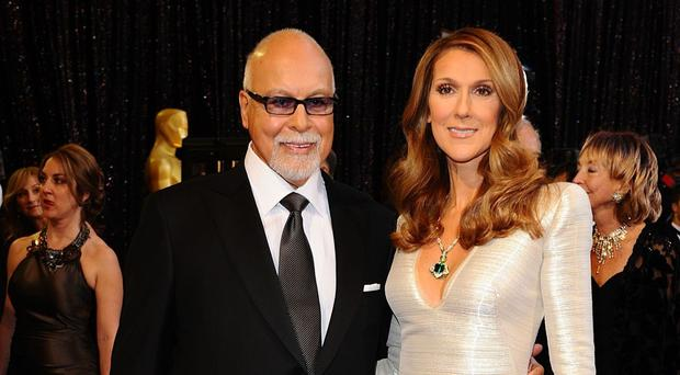 Celine Dion pictured with her husband Rene Angelil in 2011