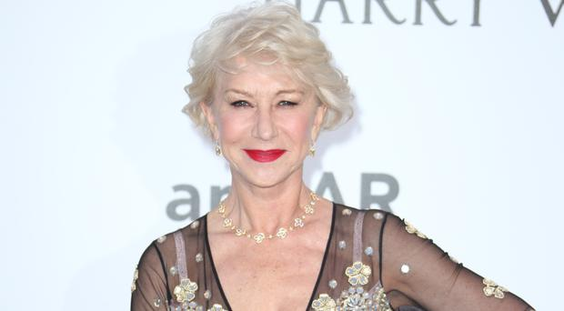 Dame Helen Mirren at the amfAR Cinema Against Aids event (AP)