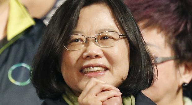 Tsai Ing-wen must deal with Beijing as well as economic worries at home (AP)
