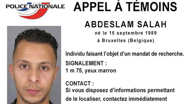 The Police Nationale wanted notice for Salah Abdeslam