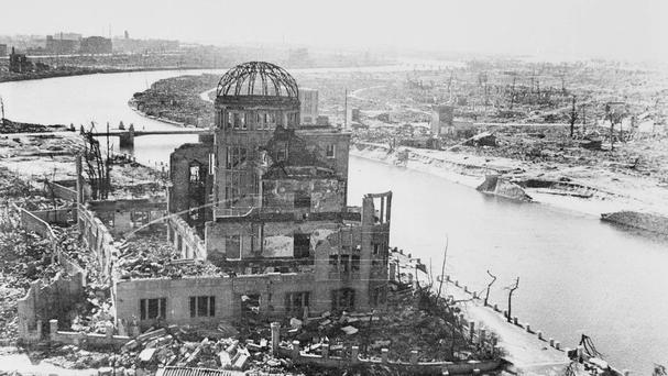 Hiroshima following the dropping of the atomic bomb on August 6 1945