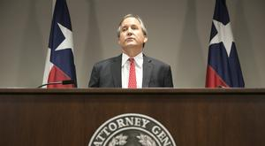 Republican Texas Attorney General Ken Paxton announces the state's lawsuit to challenge President Obama's transgender toilet order (Austin American-Statesman/AP)