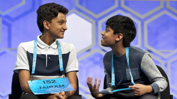 Nihar Janga, 11, and Jairam Hathwar, 13, were named co-champions in the 2016 National Spelling Bee (AP)