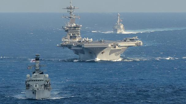 This year's Rimpac maritime drills will involve a record 27 nations (MoD/PA)