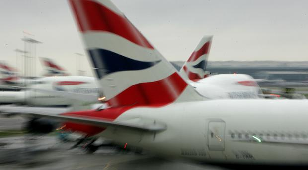 The British Airways plane has been moved to a remote section of the airport