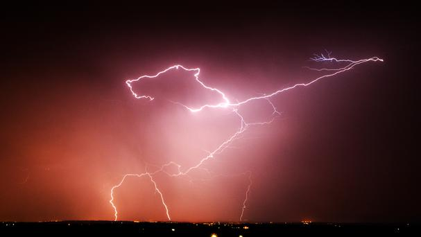 Festival-goers were injured by lightning strikes