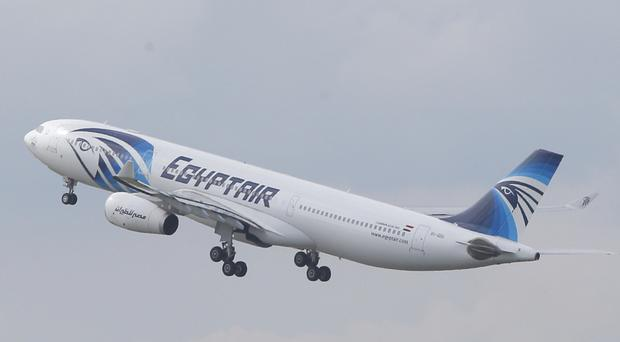 An EgyptAir Airbus was forced to land in Uzbekistan after a bomb threat (AP)