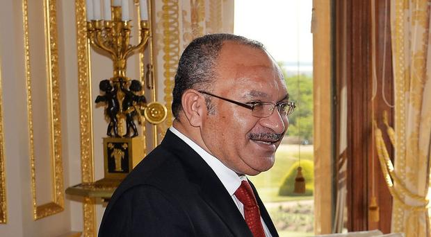The students are demanding that Prime Minister Peter O'Neill resign because of alleged corruption and mismanagement