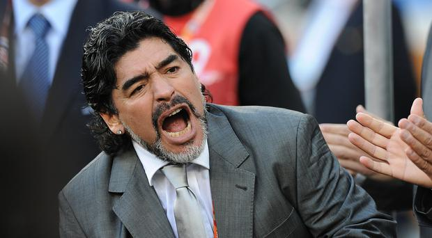 Diego Maradona says he wants to help clean up football's discredited image