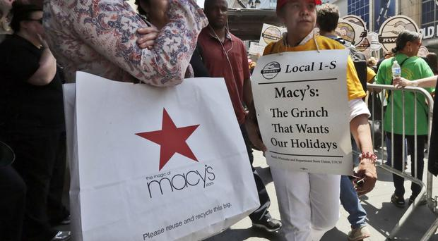 Macy's has placed ads seeking temporary workers as the strike threat increases (AP)