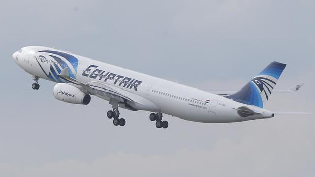 A search vessel has spotted wreckage from the crashed Egypt Air plane