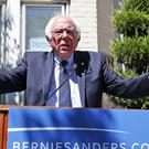 Bernie Sanders spoke a week after Hillary Clinton secured enough delegates to become the presumptive nominee (AP)