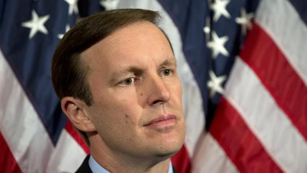 Senator Chris Murphy had filibustered for hours in order to force a vote on US gun control (AP)