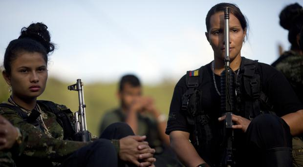 Rebel FARC soldiers in Colombia (AP)