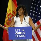 Michelle Obama has taken her Let Girls Learn initiative to Spain (AP)