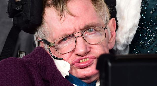 Police said the woman had been following Stephen Hawking