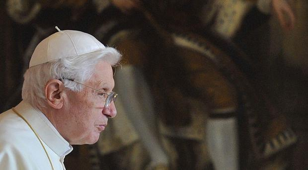 Pope Benedict XVI pictured during his pontificate on his visit to the UK