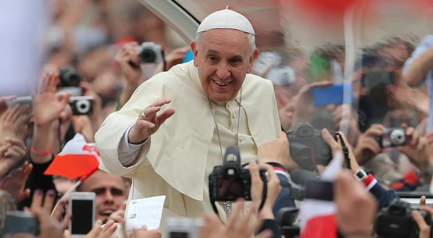 Pope Francis hailed his predecessor for helping expose problems in the church