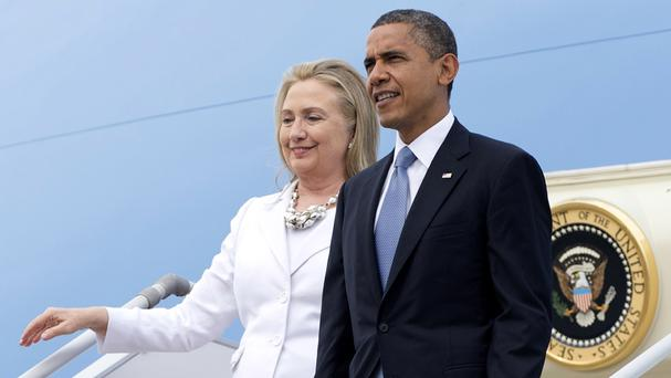 Hillary Clinton and Barack Obama are to make their first joint Democrat election campaign appearance (AP)