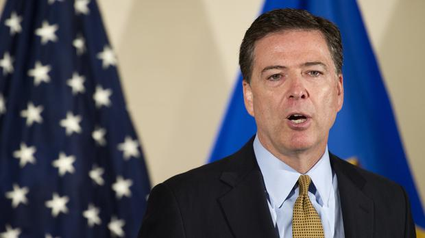 FBI director James Comey makes a statement at FBI headquarters in Washington (AP)