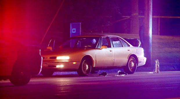 A car at the scene of the shooting in Minnesota (AP)