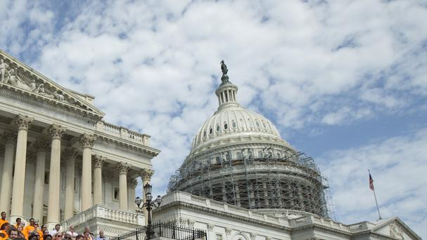 Capitol police say they are searching for an individual but offered no details (AP)