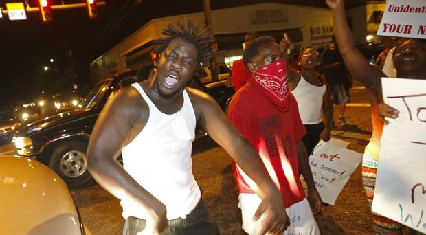 A protest over the shooting of Alton Sterling in Baton Rouge (AP)